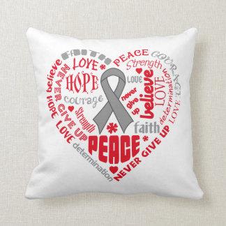 Parkinson's Disease Awareness Heart Words Pillow