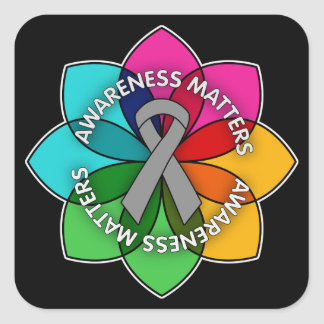 Parkinson's Disease Awareness Matters Petals Square Sticker