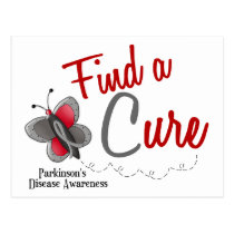 Parkinson's Disease Butterfly 2 Find A Cure Postcard
