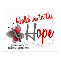 Parkinson's Disease Butterfly 2 Hold On To Hope Postcard