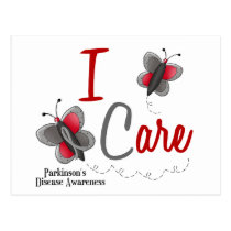 Parkinson's Disease Butterfly 2 I Care Postcard