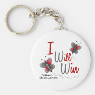 Parkinson's Disease Butterfly 2 I Will Win Basic Round Button Keychain