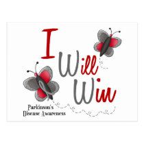 Parkinson's Disease Butterfly 2 I Will Win Postcard