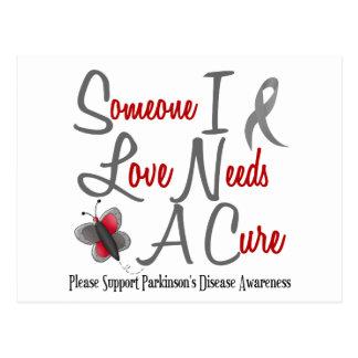 Parkinson's Disease Butterfly 2 Needs A Cure Postcard