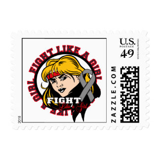Parkinson's Disease Fight Like A Girl Attitude Postage Stamps
