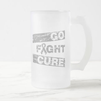 Parkinson's Disease Go Fight Cure 16 Oz Frosted Glass Beer Mug