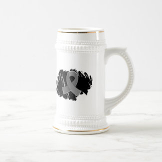 Parkinson s Disease Grey Ribbon With Scribble Mugs