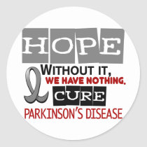 Parkinson's Disease HOPE 2 Classic Round Sticker