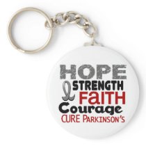Parkinson's Disease HOPE 3 Keychain