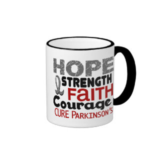 Parkinson's Disease HOPE 3 Ringer Coffee Mug