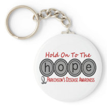 Parkinson's Disease HOPE 6 Keychain