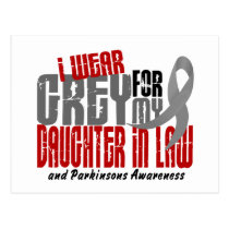Parkinson's Disease I WEAR GREY DAUGHTER-IN-LAW Postcard