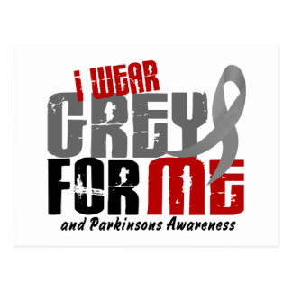 Parkinson's Disease I WEAR GREY FOR ME 6 2 Post Cards