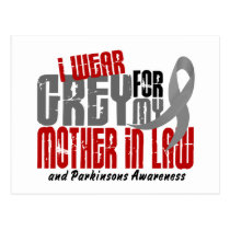 Parkinson's Disease I WEAR GREY FOR MOTHER-IN-LAW Postcard