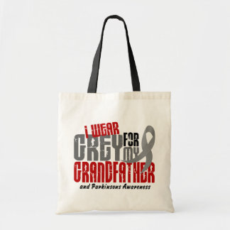Parkinson's Disease I WEAR GREY FOR MY GRANDFATHER Tote Bags