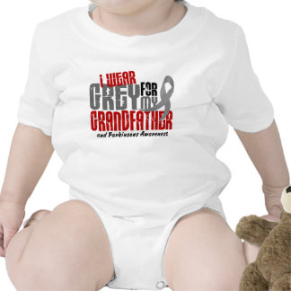 Parkinson's Disease I WEAR GREY FOR MY GRANDFATHER Baby Bodysuit