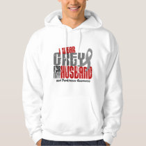 Parkinson's Disease I WEAR GREY FOR MY HUSBAND 6.2 Hoodie