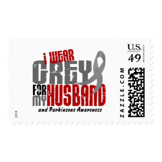 Parkinson's Disease I WEAR GREY FOR MY HUSBAND 6.2 Postage Stamp