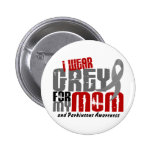 Parkinson's Disease I WEAR GREY FOR MY MOM 6.2 2 Inch Round Button