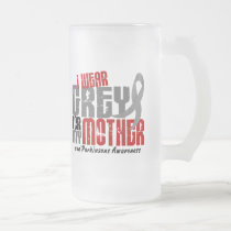 Parkinson's Disease I WEAR GREY FOR MY MOTHER 6.2 Frosted Glass Beer Mug