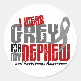 Parkinson's Disease I WEAR GREY FOR MY NEPHEW 6.2 Classic Round Sticker