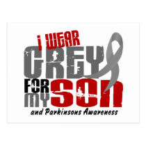 Parkinson's Disease I WEAR GREY FOR MY SON 6.2 Postcard