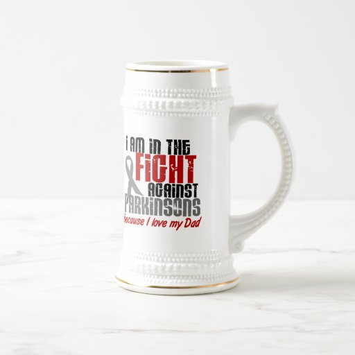 Parkinson's Disease IN THE FIGHT FOR MY DAD 1 Mugs
