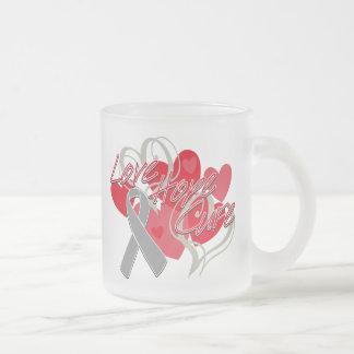 Parkinson's Disease Love Hope Cure 10 Oz Frosted Glass Coffee Mug