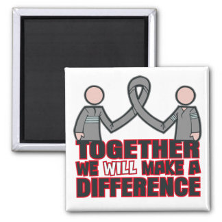 Parkinson's Disease Together We Will Make A Differ 2 Inch Square Magnet