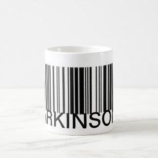 PARKINSONS BARCODE COFFEE MUG