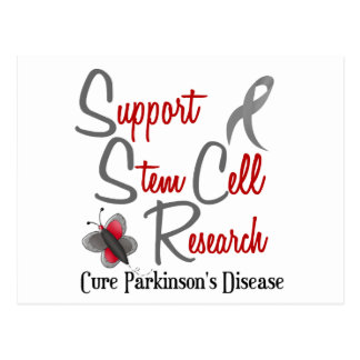 Parkinson's Butterfly 2 Support Stem Cell Research Postcard