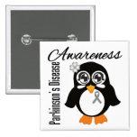 Parkinson's Disease Awareness Penguin Pinback Button