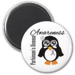 Parkinson's Disease Awareness Penguin Fridge Magnet