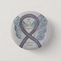 Parkinson's Disease Awareness Ribbon Angel Art Pin