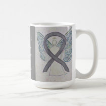 Parkinson's Disease Awareness Ribbon Angel Mug