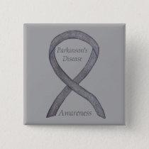 Parkinson's Disease Awareness Ribbon Art Pin