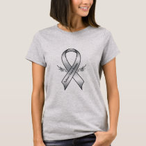Parkinson's Disease Awareness Ribbon with Wings T-Shirt