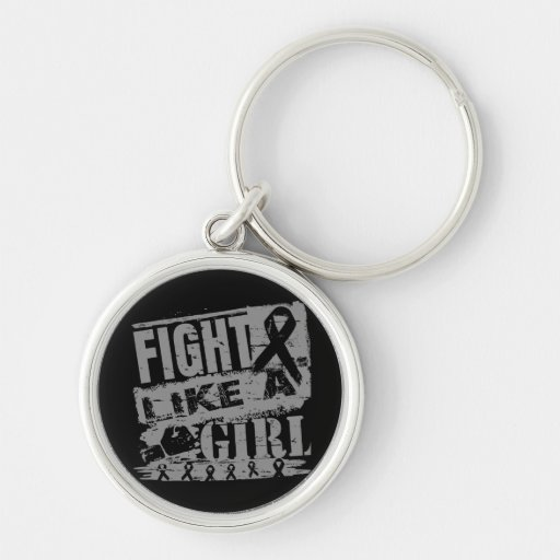 Parkinson's Disease BurnOut Fight Like a Girl Key Chains