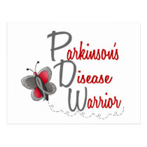 Parkinson's Disease Butterfly 2 Warrior Postcard