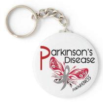 Parkinsons Disease BUTTERFLY 3.1 Keychain