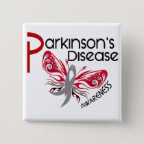 Parkinsons Disease BUTTERFLY 3.1 Pinback Button