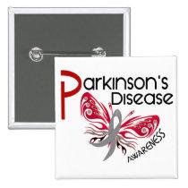 Parkinsons Disease BUTTERFLY 3.1 Pinback Button