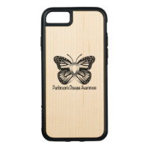 Parkinson's Disease Butterfly Awareness Ribbon Carved iPhone 8/7 Case