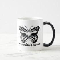 Parkinson's Disease Butterfly Awareness Ribbon Magic Mug
