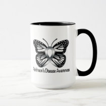 Parkinson's Disease Butterfly Awareness Ribbon Mug
