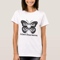 Parkinson's Disease Butterfly Awareness Ribbon T-Shirt