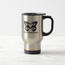 Parkinson's Disease Butterfly Awareness Ribbon Travel Mug