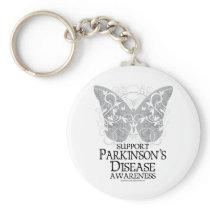 Parkinson's Disease Butterfly Keychain