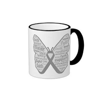 Parkinsons Disease Butterfly Ribbon Ringer Coffee Mug