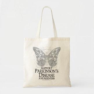 Parkinson's Disease Butterfly Tote Bag